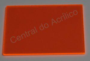 Poliestireno Standard Laranja Fluorescente